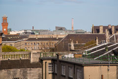 Dublin Skyline. A view over the skyline of Dublin from Temple Bar looking eastwards Royalty Free Stock Images