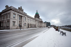 Dublin snow Royalty Free Stock Image