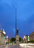 Dublin Spire by night. Evening shot taken of the famous irish symbol the Spire located on the O'Connel streetl Stock Photo