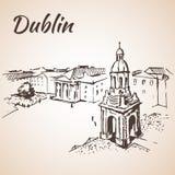 Dublin square cityscape - Ireland. Stock Image