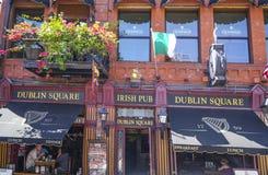 Dublin Square Irish Pub in San Diego - SAN DIEGO - CALIFORNIË - APRIL 21, 2017 stock afbeelding