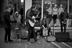 Dublin St Performers stock photo