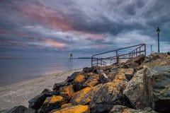 Dublin Sunrise. A beach sunrise in Dublin Royalty Free Stock Photo