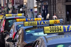 Dublin Taxis Stock Images