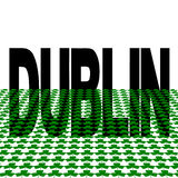 Dublin text with shamrocks Royalty Free Stock Photos