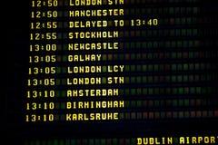 Dublin timetable Royalty Free Stock Image