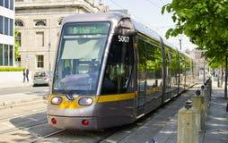 Dublin Tram Lizenzfreies Stockfoto