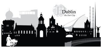 Dublin. Vector illustration of the Dublin, Ireland, skyline / cityscape Stock Photo