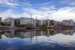 Dublin waterfront and skyline - Ireland Royalty Free Stock Images