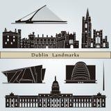 Dublin zabytki i punkty zwrotni royalty ilustracja