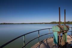 Dubnany池塘  库存照片