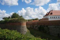 Dubno, stary kasztel zakładający Ostrogski Fotografia Royalty Free