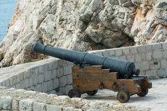 Dubnovnik cannon on town wall Stock Image