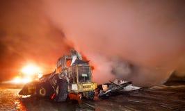 DuBois Aufbau-Feuer 01-07-2012 Lizenzfreie Stockbilder