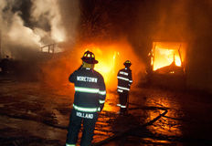DuBois Construction Fire 01-07-2012 Stock Image