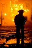 DuBois Construction Fire 01-07-2012 Stock Image