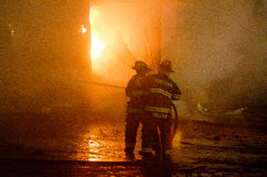 DuBois Construction Fire 01-07-2012 Royalty Free Stock Image