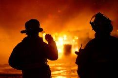 DuBois Construction Fire 01-07-2012 Stock Photos