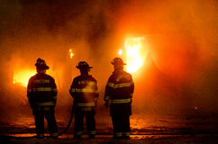 DuBois Construction Fire 01-07-2012 Royalty Free Stock Photo