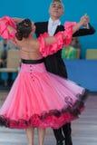 Dubovik Timofey e programa padrão de Zagrebailova Yana Perform Youth-2 Fotos de Stock Royalty Free