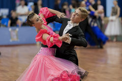 Dubovik Timofey and Zagrebailova Yana Perform Juvenile-2 Latin-American Program on National Championship Royalty Free Stock Image