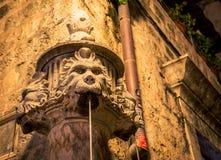Dubronik фонтана головы ` s льва Стоковая Фотография RF