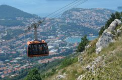 Dubronik Cable Car Royalty Free Stock Images