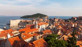 Dubrovinik Kroatien Arkivbild
