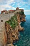 Dubrovink stadsvägg, Kroatien Fotografering för Bildbyråer