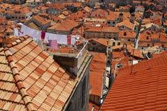Dubrovnic屋顶  免版税库存照片