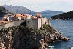 dubrovnic fort Obrazy Royalty Free