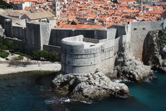 Dubrovnic Fort Wall Stock Photography