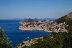 Dubrovnic panorama zdjęcia royalty free