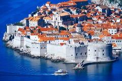 Dubrovnik överkant-sikt croatia Arkivfoto
