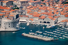 Dubrovnik, άποψη της Κροατίας από την απόσταση Στοκ Φωτογραφίες