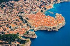 Dubrovnik από τον αέρα Στοκ εικόνες με δικαίωμα ελεύθερης χρήσης