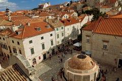 Dubrovnik, Δαλματία, Κροατία - παλαιά πόλη Dubrovnik, πηγή Onofrio στοκ φωτογραφία με δικαίωμα ελεύθερης χρήσης