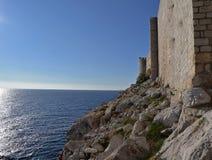 Dubrovnik, Κροατία, οι παλαιοί τοίχοι πόλεων Στοκ Εικόνες