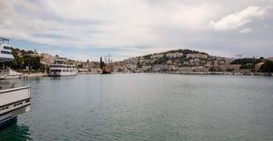 Dubrovnik, Κροατία - τον Απρίλιο του 2019: Λιμένας Gruz Dubrovnik στοκ εικόνες