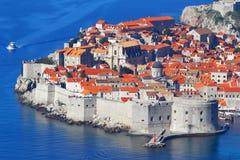 dubrovnik Κροατία Τοπ όψη Στοκ Φωτογραφίες