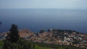 Dubrovnik, Κροατία, όμορφη άποψη, πανόραμα φιλμ μικρού μήκους