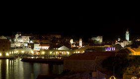 dubrovnik νύχτα στοκ φωτογραφίες