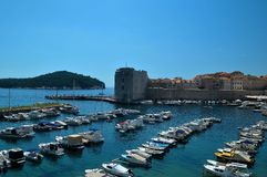 Dubrovnik, παλαιός πόλης λιμένας Στοκ εικόνα με δικαίωμα ελεύθερης χρήσης