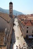 dubrovnik старый городок Улица Stradun или Placa Стоковое Изображение