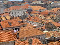 Dubrovnik. A view of the roofs of Dubrovnik in Croatia stock images