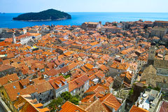 Dubrovnik. The old part from the historic city Dubrovnik Kroatia Stock Images