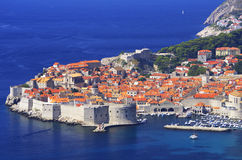 Dubrovnik. Old city in croatia, adriatic pearl stock photography