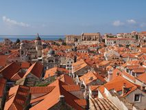 Dubrovnik. Unesco protected site Dubrovnik old town, Croatia Royalty Free Stock Photo