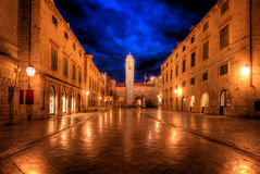 Dubrovnik. Old city center of an ancient fortified merchant city Dubrovnik on adriatic coast in croatia stock photos