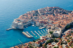 Dubrovnik. Beautiful old town in south Croatia, Adriatic sea Stock Image